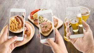 photographie de nourriture pour medias sociaux