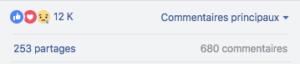Preuve social Facebook